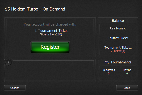 Tournament tickets